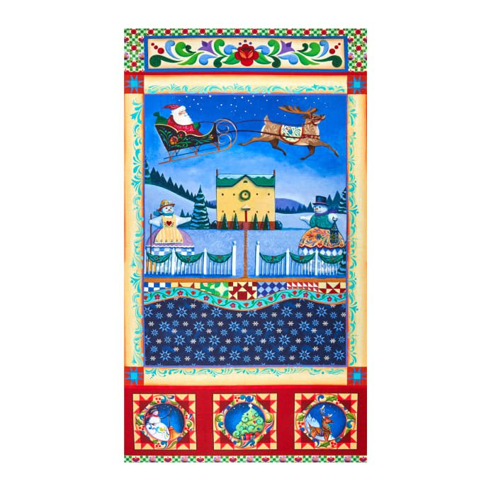 A Quilter's Christmas Panel