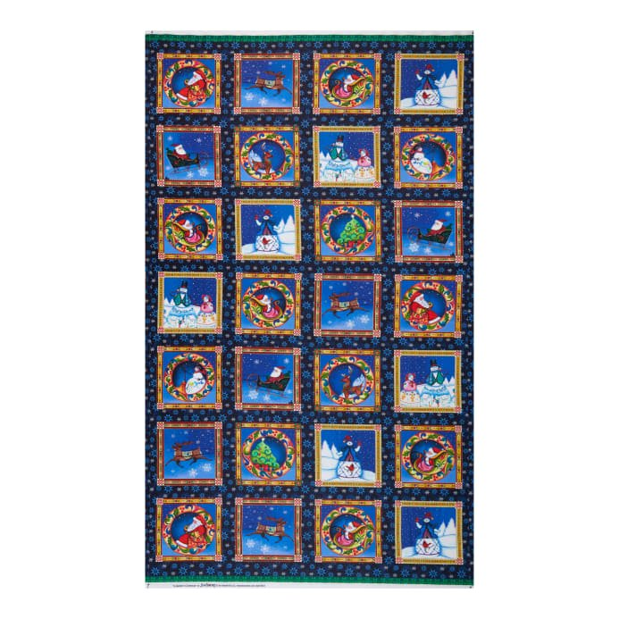 A Quilter's Christmas Block Panel