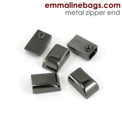 Emmaline Bags Zipper Ends - Gunmetal
