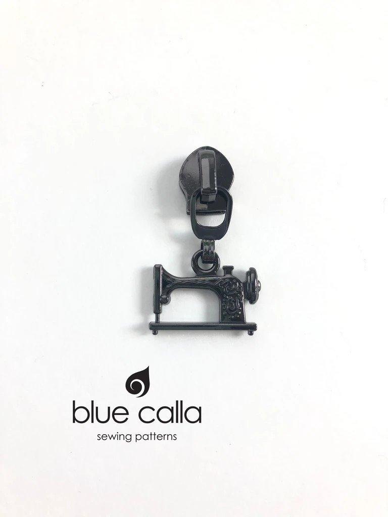 Zipper Head and Pull - Sewing Machine Gunmetal