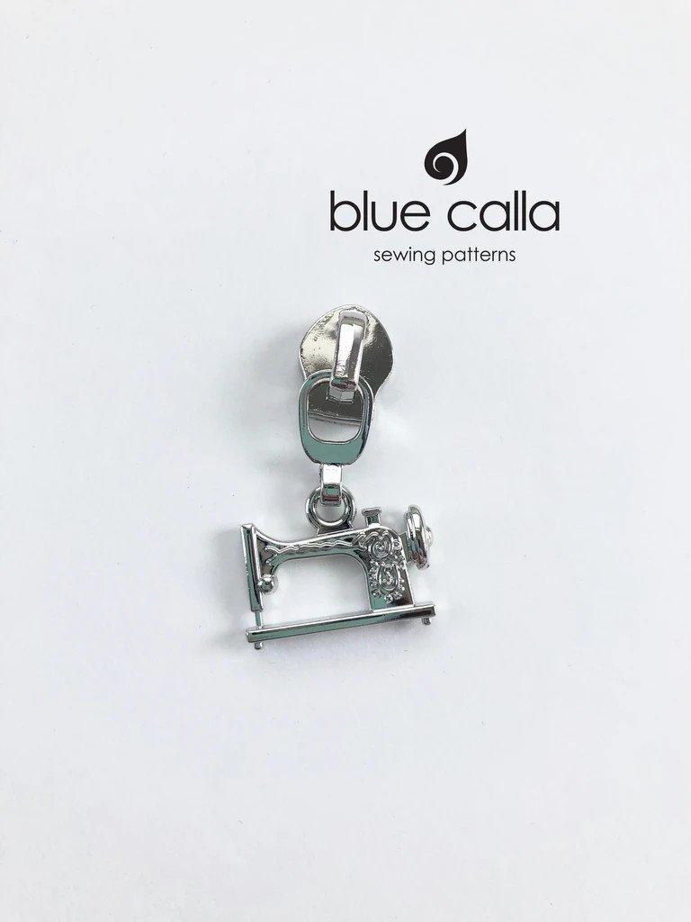 Zipper Head and Pull - Sewing Machine Nickel