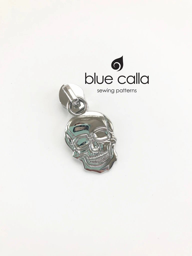 Zipper Pull Skull Nickel