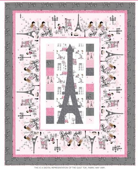 Michael Miller Eiffel Tower Quilt Kit