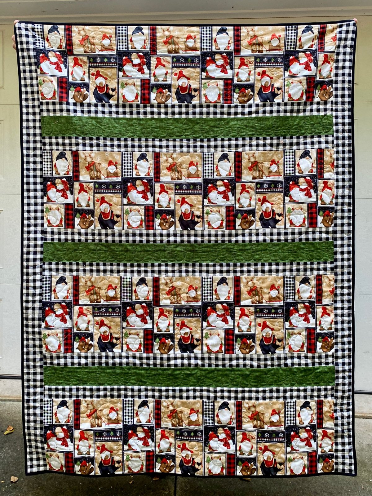 Timber Gnomies Buffalo Check Strip Quilt