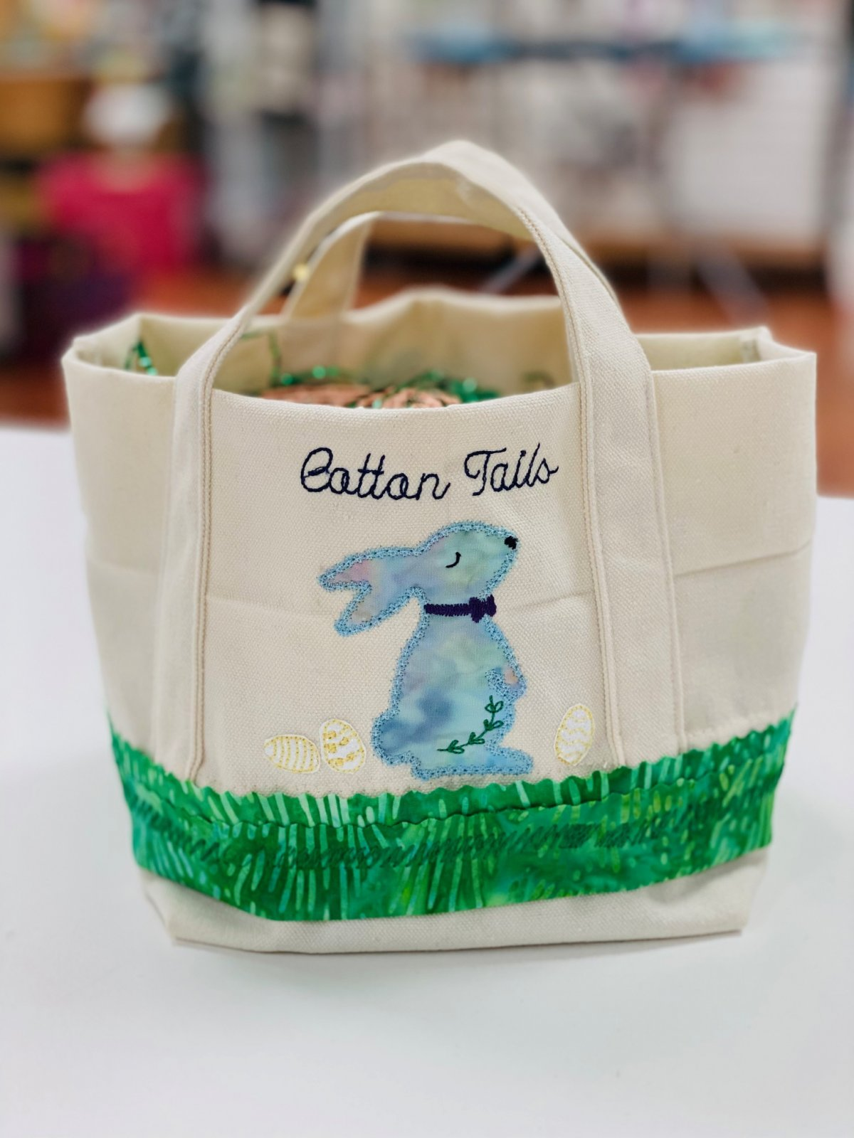 Kimberbell Canvas Bag Bunny Basket Fill in the Blank Kit