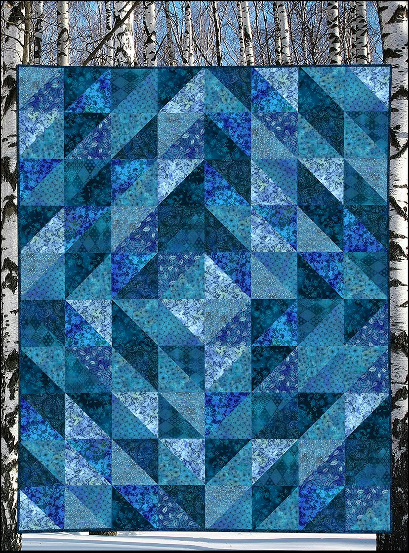 Seasons Winter Quilt Kit - Jason Yenter