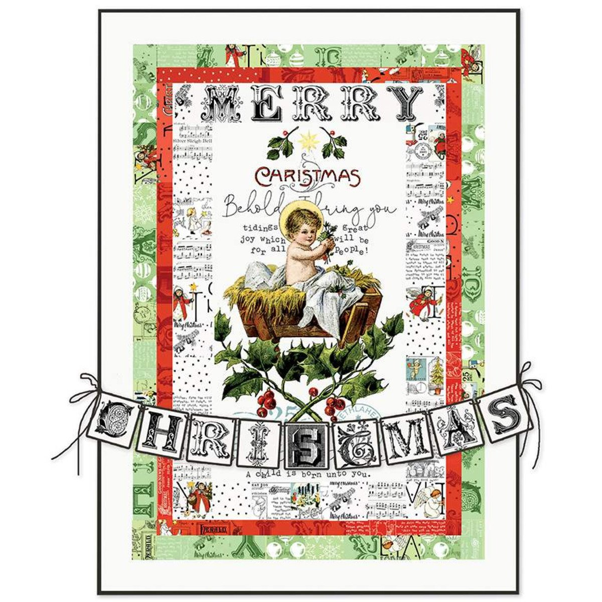All About Christmas Tidings of Great Joy Panel Quilt Boxed Kit