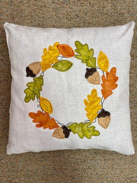Fall Wreath Fabric Only Pillow Kit