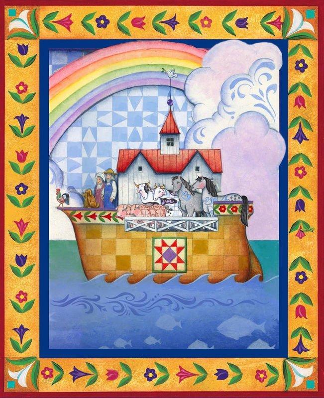 #6 Jim Shore's Noahs Ark Panel quilt