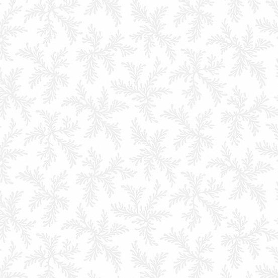 Century White on White- Coral Fern
