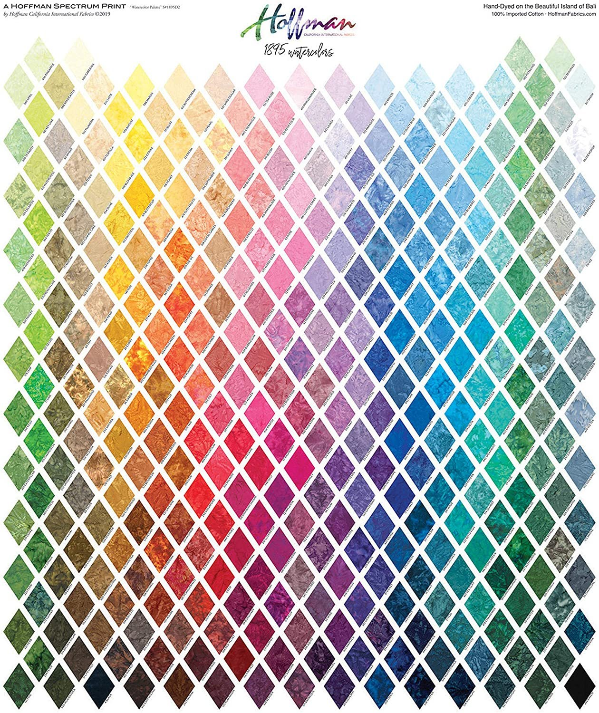 Bali Watercolors Palette Digital Print by Hoffman