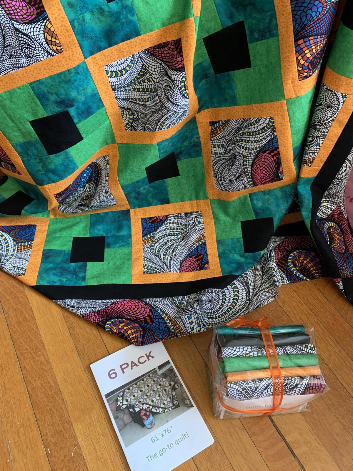 6 Pack Quilt Kit-  Brights