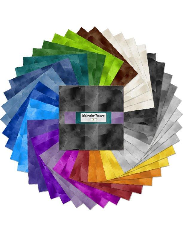 Watercolor Texture  10 Karat Gems Ten Squares