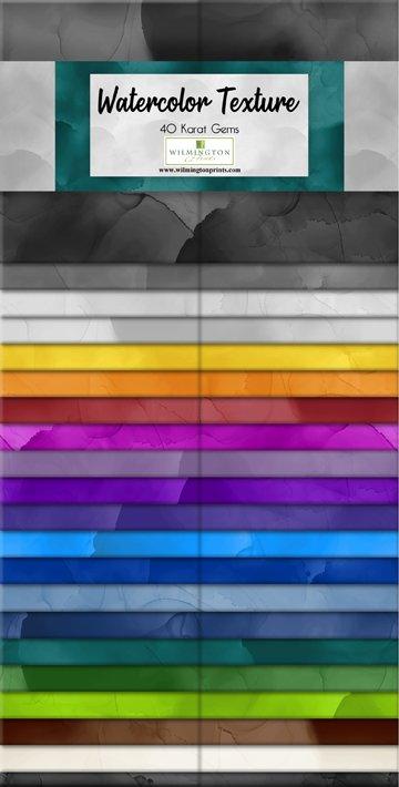 Watercolor Texture  40 Karat Gems Strips