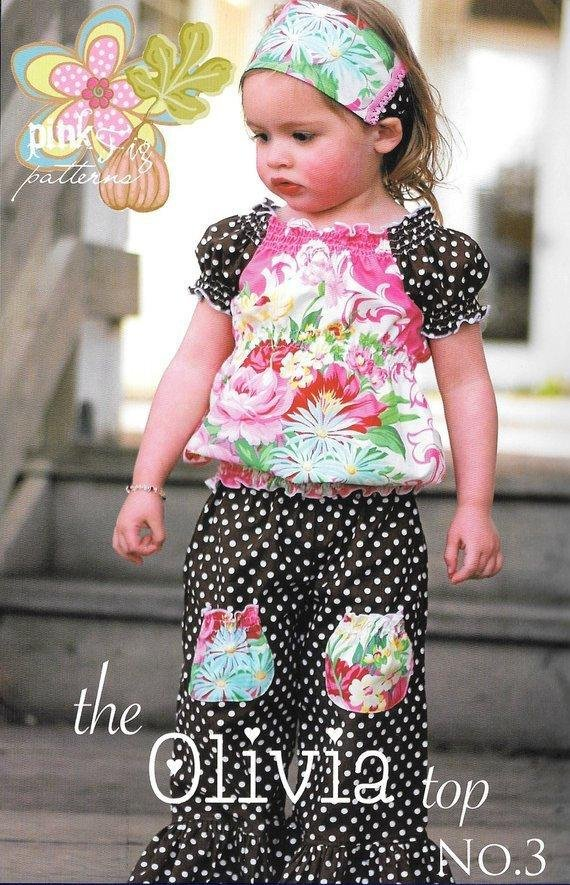 The Olivia Top No. 3 for Girls - Pink Fig