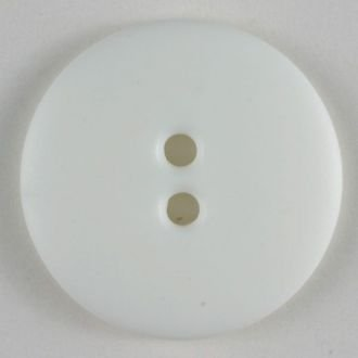 20mm 2 hole Button White