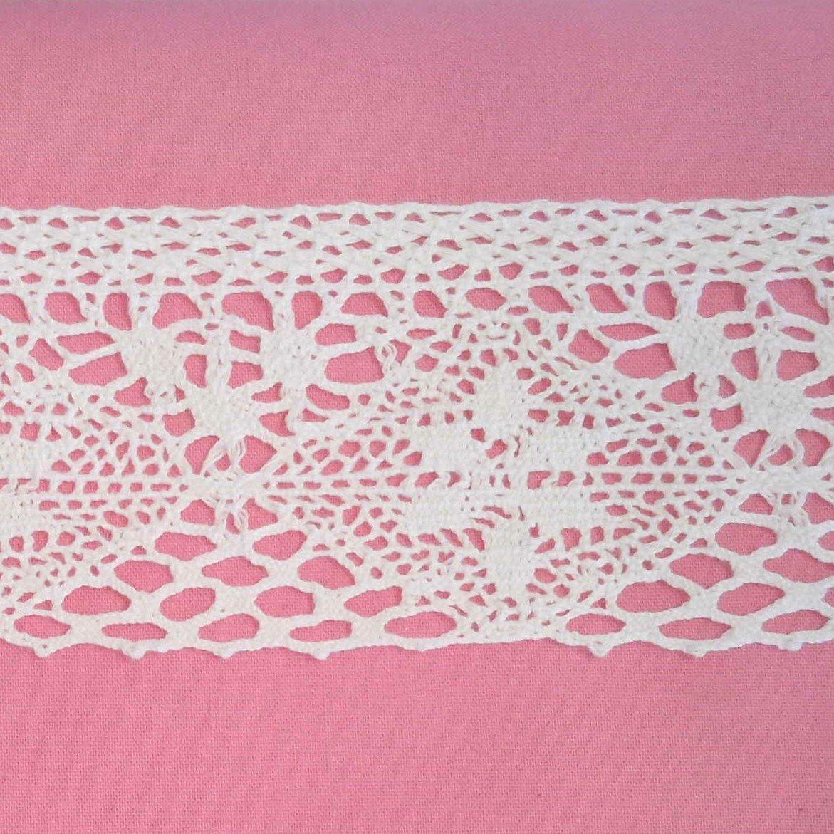 Aurora White Cotton Crochet Lace