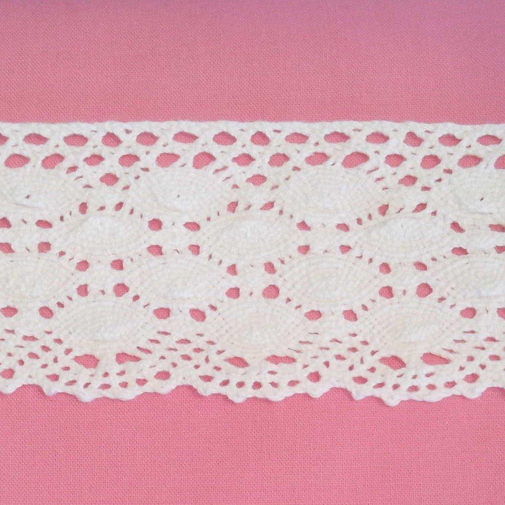 Audrey 2 1/4 White Cotton Lace