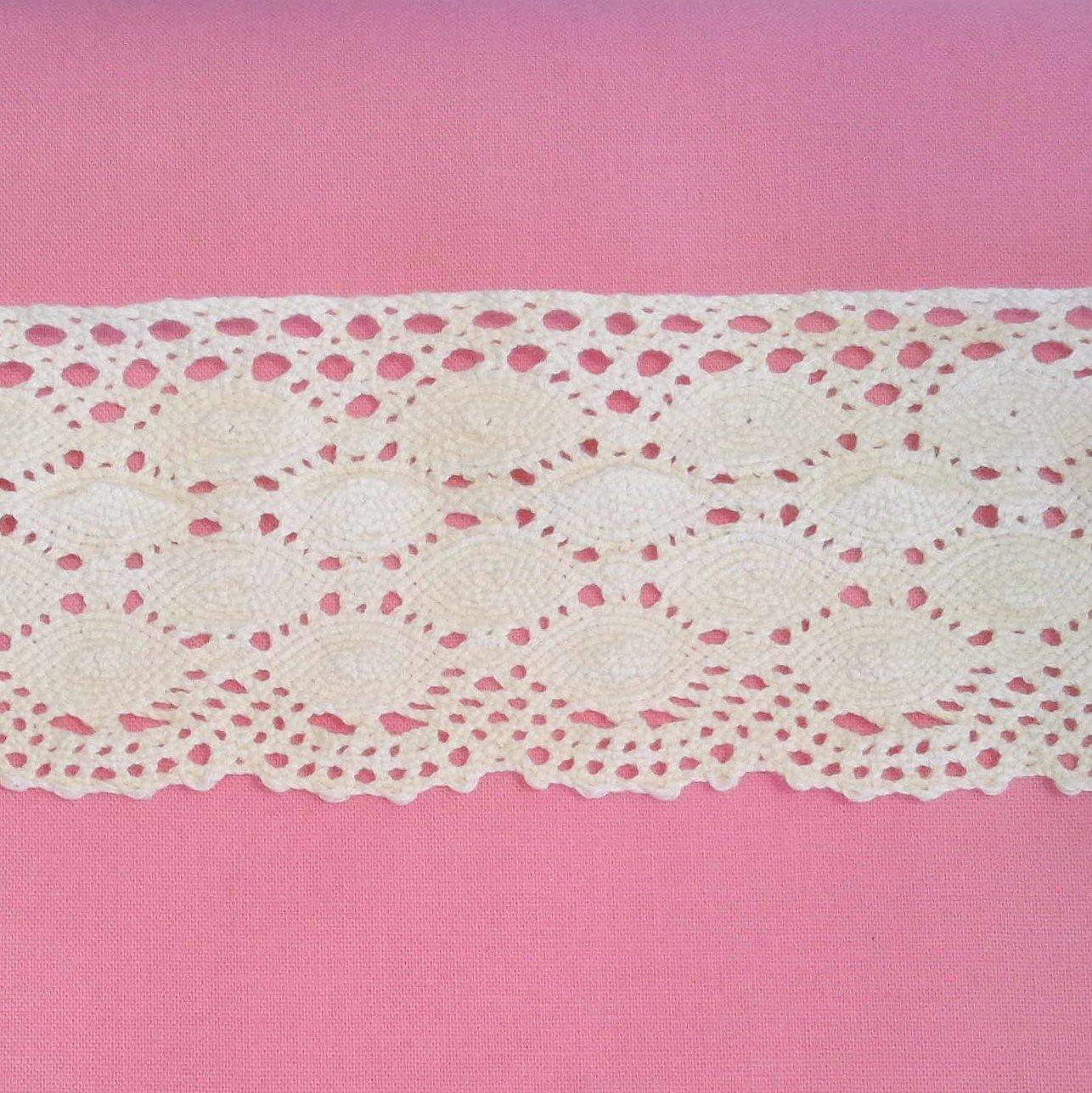 Audrey 2 1/4 Ivory Cotton Lace