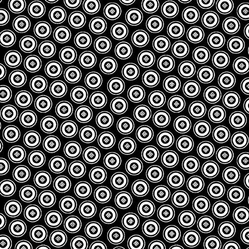 Dotty Buttons Black/White