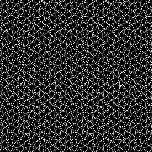 Dot Waves Black/White