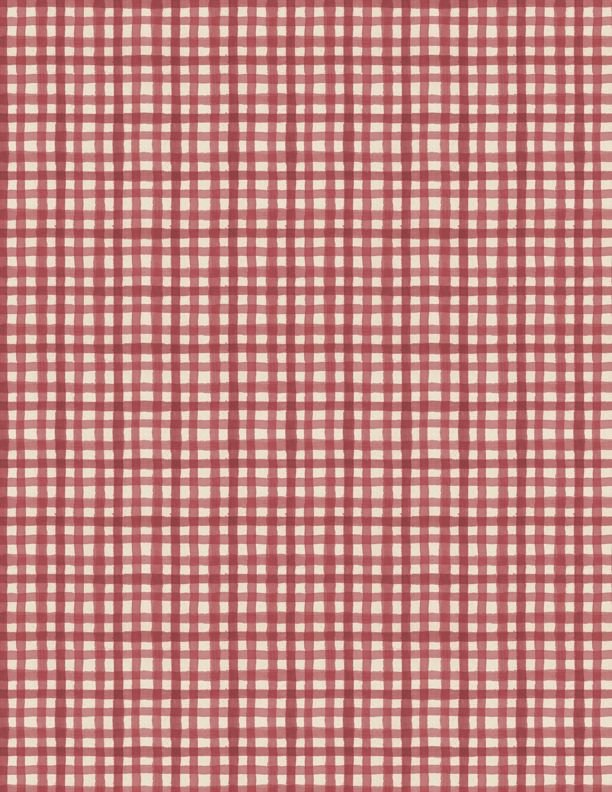 Farmhouse Chic Gingham Red