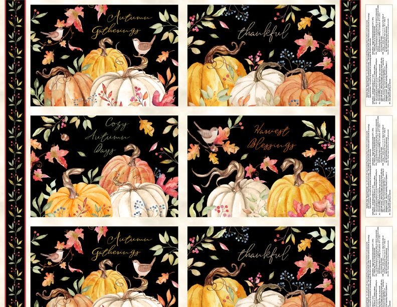 Autumn Day Placemat Fabric Panel