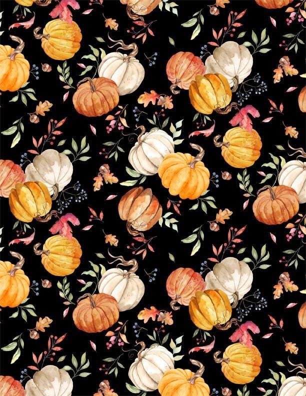 Autumn Day Pumpkin Toss Black