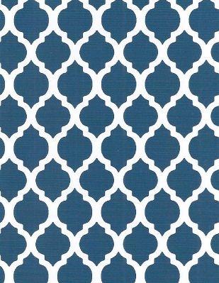 Navy Quatrefoil - Fabric Finders