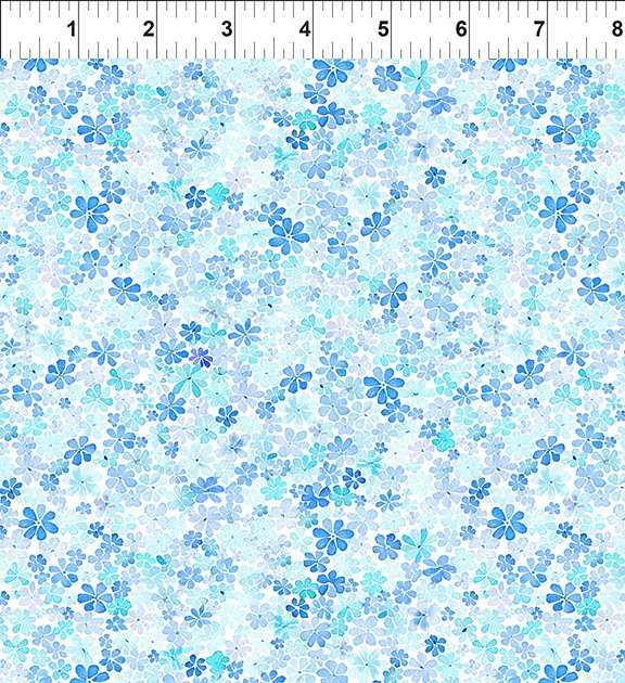 Watercolor Beauty Daisy Blue