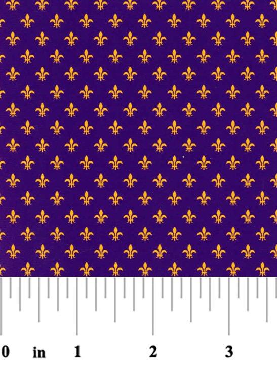 Purple and Gold Fleur de lis  Mini