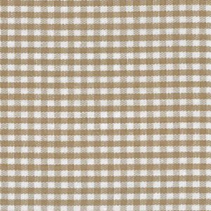 British Tan Gingham Fabric 1/16