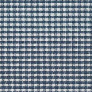 Navy Gingham Fabric  1/16