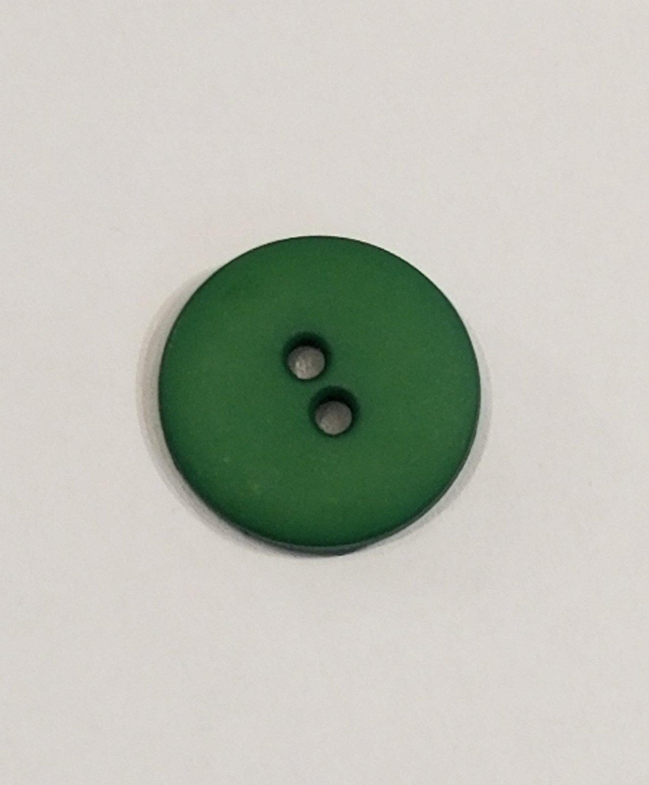 Buttons 20mm 2 hole Dk Green