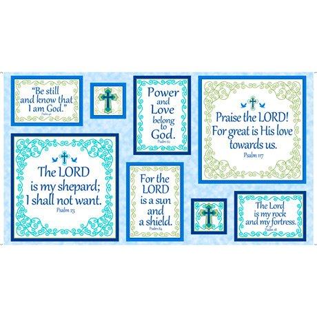 Psalms PSALMS PATCHES PANEL BLUE