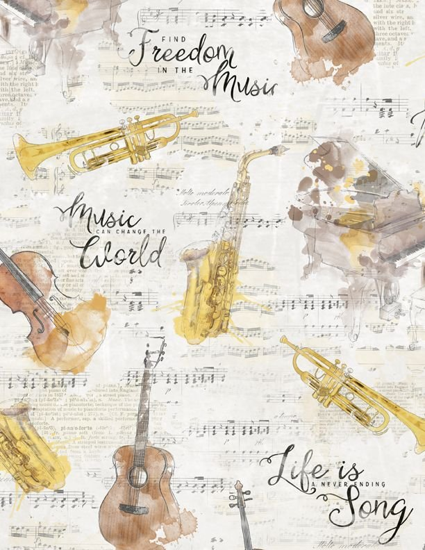 Musical Gift Large Cream
