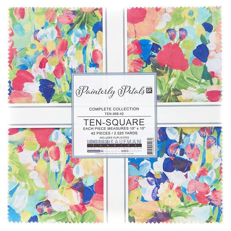 Painterly Petals Ten Squares