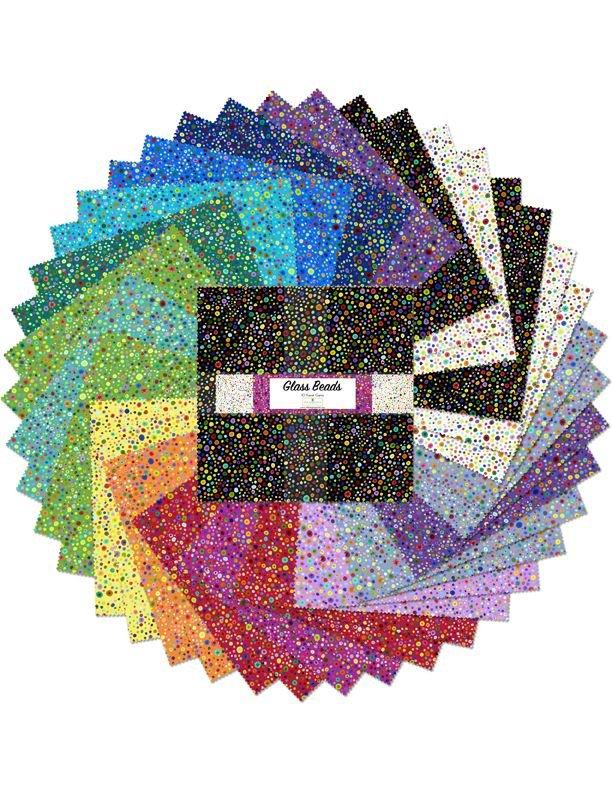 Glass Beads Ten Squares