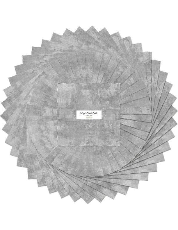 Dry Brush Slate Ten Squares