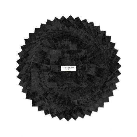 Dry Brush Black Ten Squares