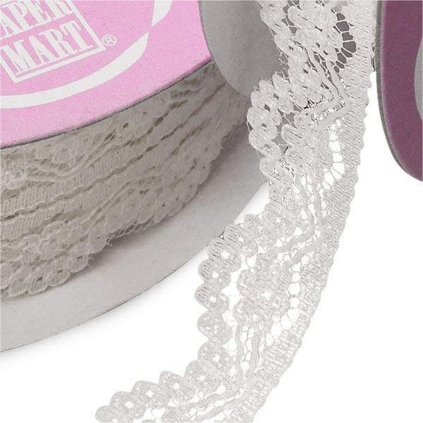 Jamie 9/16 White Lace Ribbon