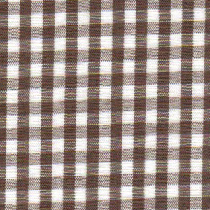 1/8 Chocolate Gingham - Fabric Finders