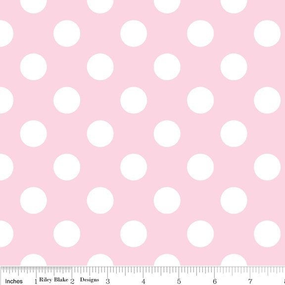 Medium Dots Flannel Baby Pink