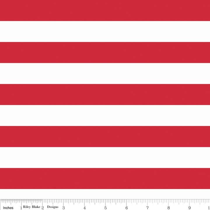 Knit 1 Inch Stripe Red