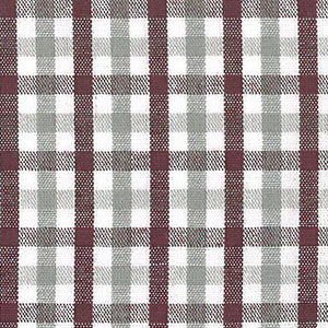 T-97 Maroon and Gray Plaid