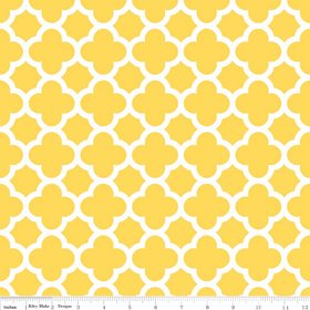 Quatrefoil Medium Yellow
