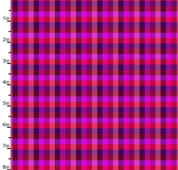 Peppered Checks Hot Pink