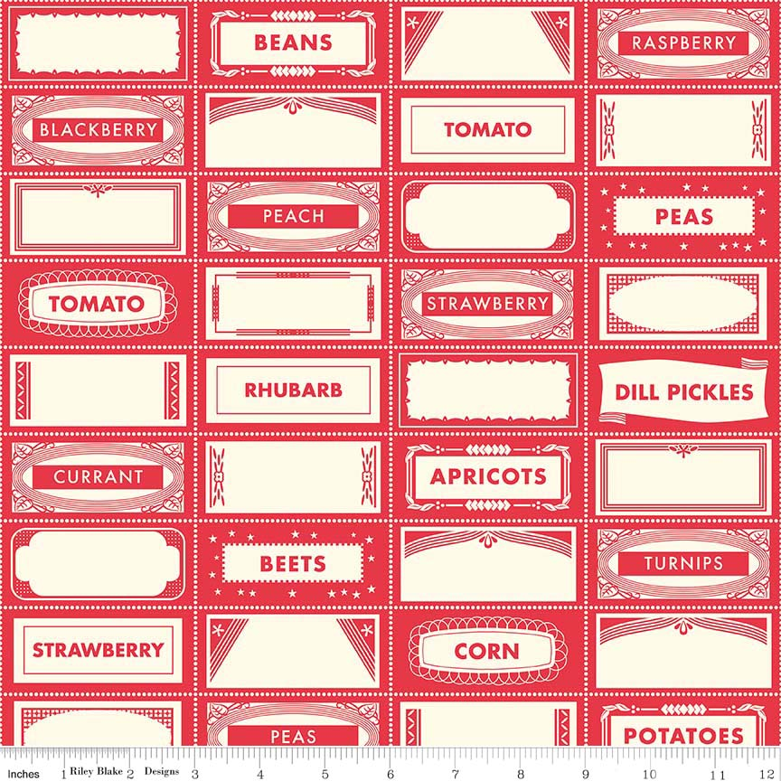 Canning Labels Red