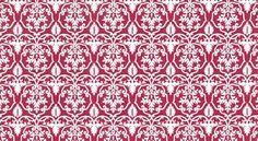 Red Floral Stripe