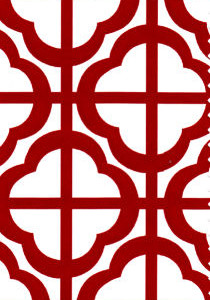 Red Geometric - Fabric Finders